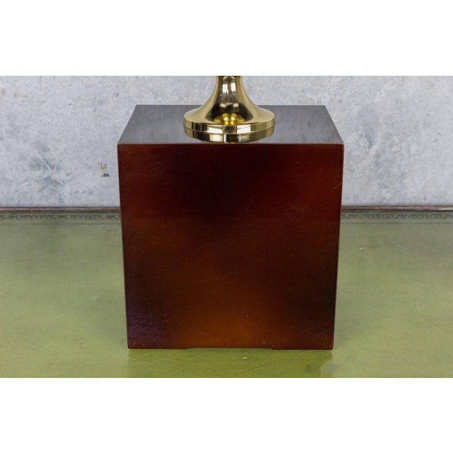 French Aubergine Enameled Table Lamp by Maison Barbier - Image 6 of 8