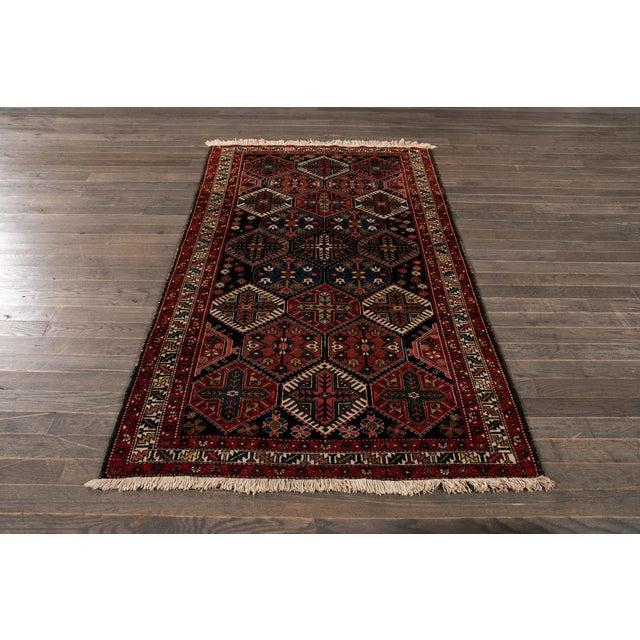 Vintage Bakhtiari Wool Rug 4'4'' X 7'2'' For Sale - Image 11 of 12