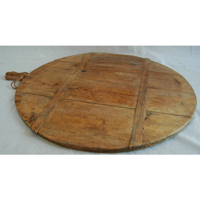 1920s Large French Harvest Bread Cheese Board For Sale - Image 5 of 6