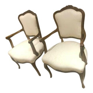 Antique Style French Style Arm Chairs - a Pair For Sale