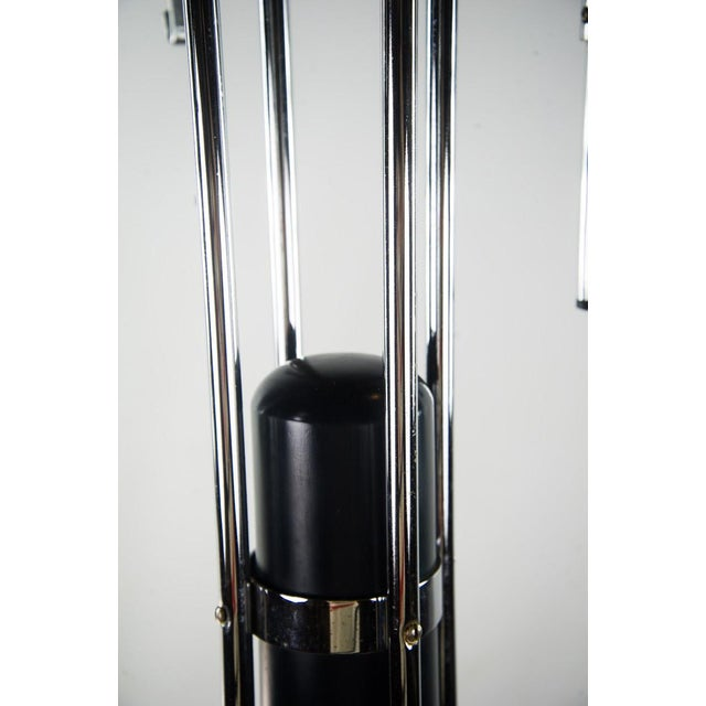 Italian Mid-Century Modern Chrome & Black Hat Stand - Image 6 of 10