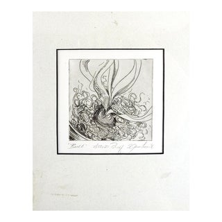 Abstract Botanical Etching For Sale