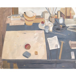The Artist's Workbench, Large Oil, 1970