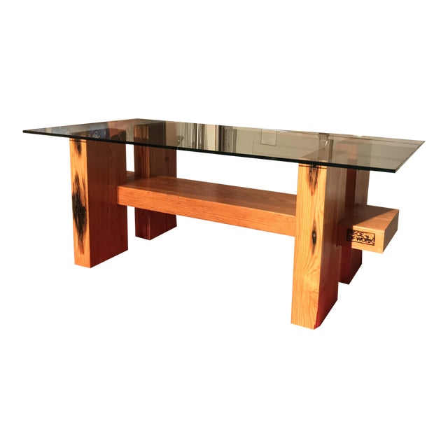 Large Timber Coffee Table - Image 1 of 5