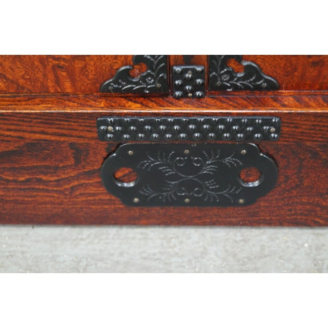 Chinese Arts & Crafts Red Elm Wood Narrow Console For Sale - Image 7 of 10