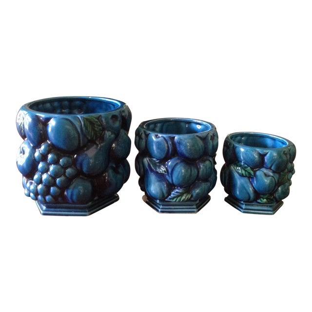 Inarco Japanese Pottery Planters - Set of 3 For Sale