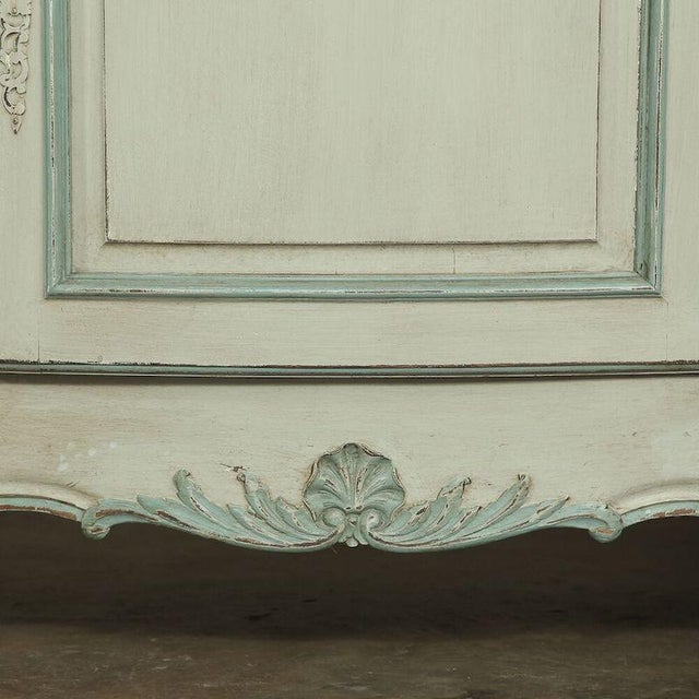 1910s Antique Country French Painted Buffet For Sale - Image 5 of 10