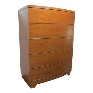 Mid-Century Modern Historic Showers Brothers Walnut Chest of Drawers