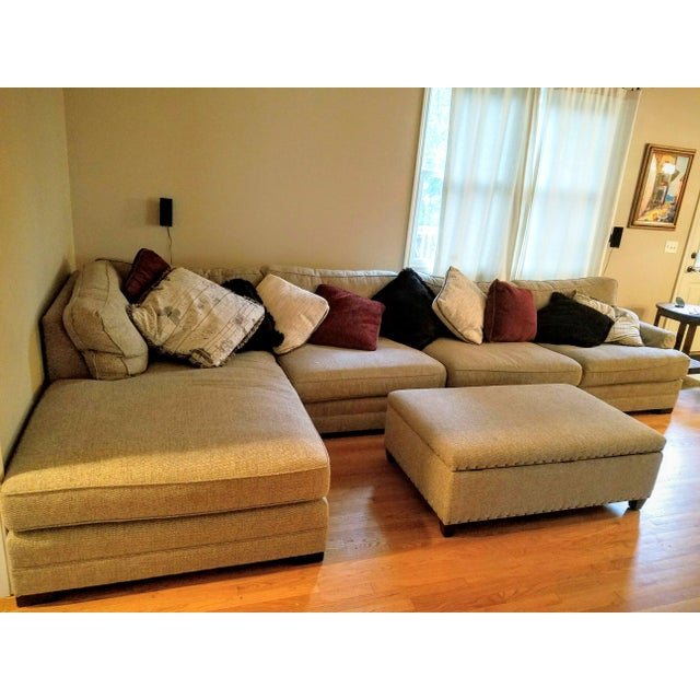 King Hickory Casbah Sectional With Ottoman - Image 2 of 4