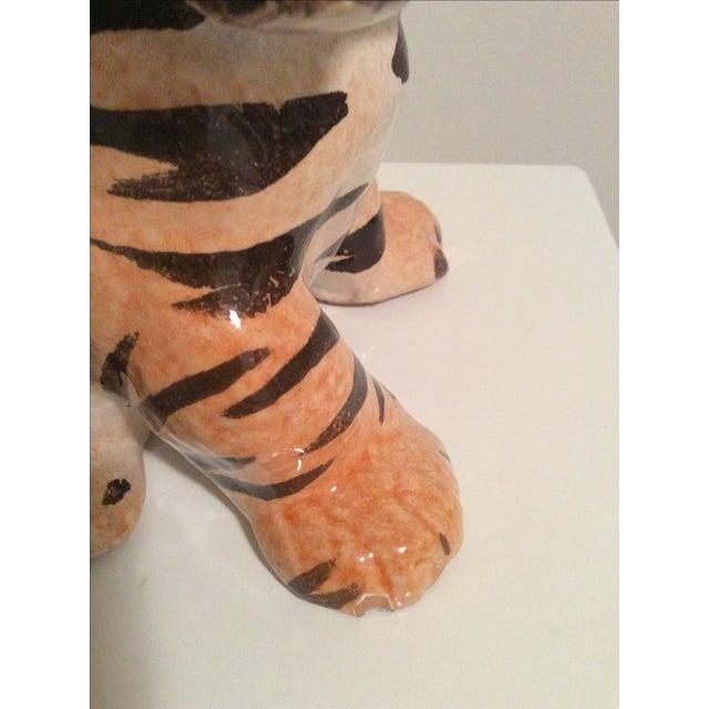 Vintage Italian Ceramic Tiger Cub Figurine - Image 7 of 7