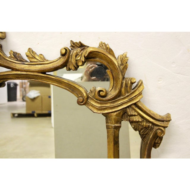 Italian Carved Giltwood Mirror For Sale - Image 4 of 8