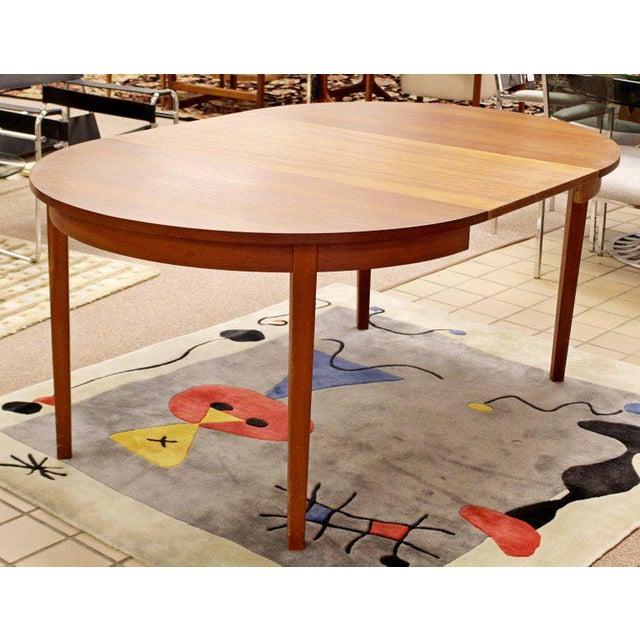 Mid-Century Danish Modern Arne Hovmand Olsen Teak Oval Dining Set For Sale - Image 11 of 13
