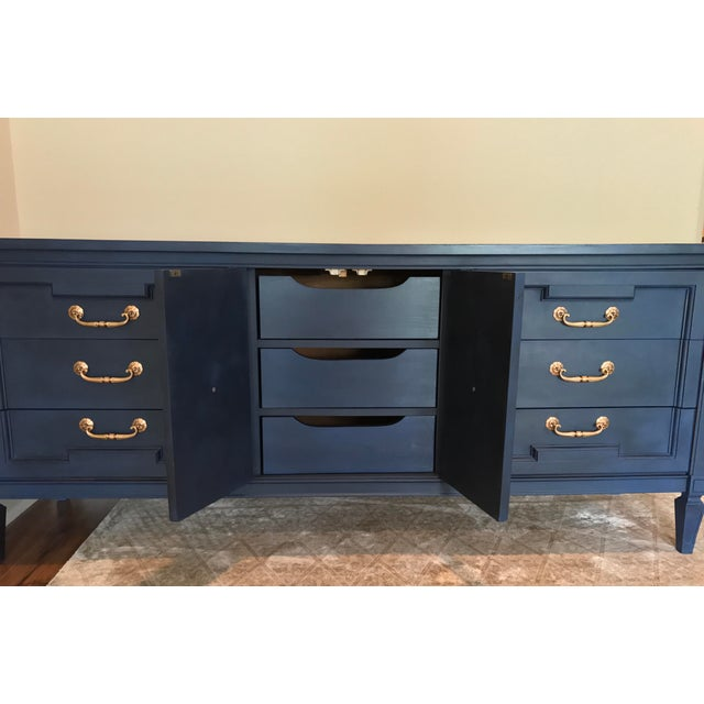Vintage Blue Painted Credenza For Sale - Image 5 of 5