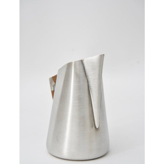 Contemporary Modern Pewter and Mahogany Coffee and Tea Service by KMD Royal Holland - 5 Pc. Set For Sale - Image 3 of 13