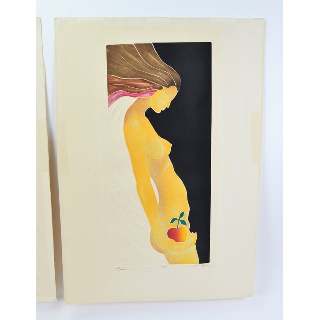 """1970's Mod Limited Edition Lithographs """"Adam"""" & """"Eve"""" Nudes - a Pair For Sale In Chicago - Image 6 of 13"""