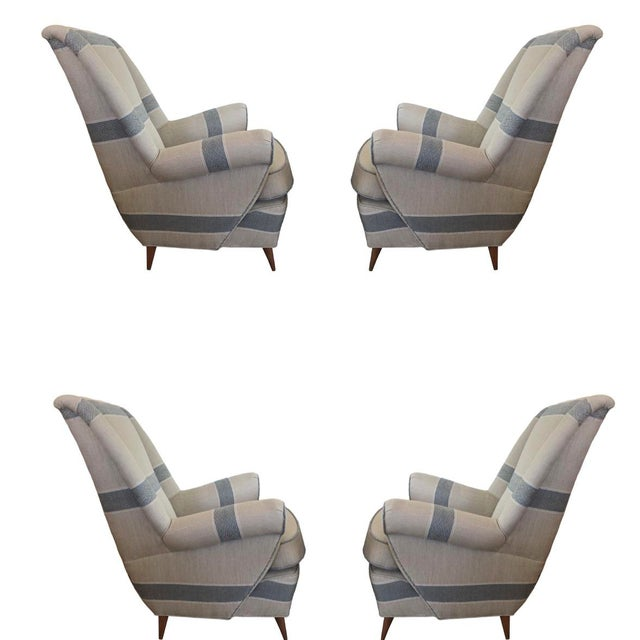 Wood Mid-Century Modern Italian Lounge Chairs - Set of 4 For Sale - Image 7 of 7