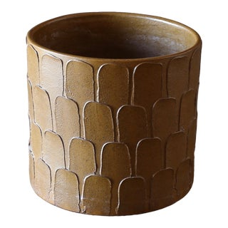 "David Cressey "" Leaf "" Pattern Planter for Architectural Pottery Circa 1965 For Sale"