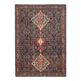 """Antique Persian Senneh Rug 4'4"""" X 6'0"""" For Sale"""