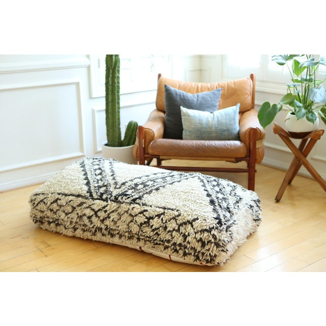 Boho Chic Double Moroccan Floor Pillow For Sale - Image 3 of 5