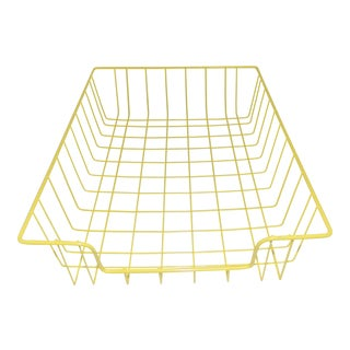 Mid-Century Modern Yellow Wire Office Desk File Sorter For Sale