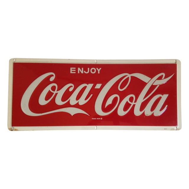 Coca-Cola Metal Tin Enamel Sign - c.1969 - Image 1 of 4