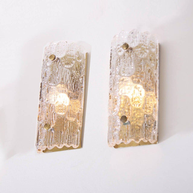 Mid-Century Modern Set of Eight Wall Lamps by Carl Fagerlund for Orrefors and Lyfa For Sale - Image 3 of 6