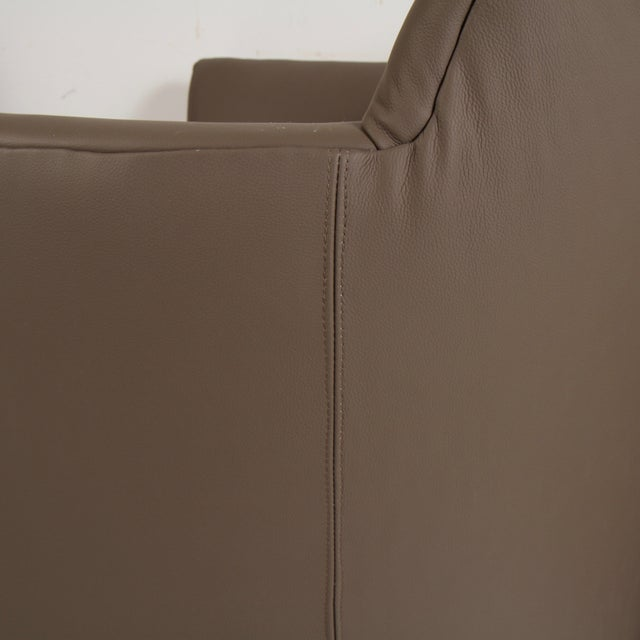 John Saladino for Baker Leather Lounge Chairs For Sale - Image 11 of 12