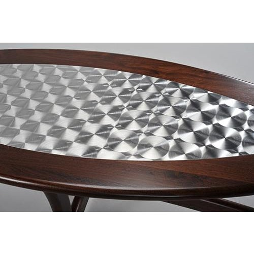 Walnut Deco Coffee Table - Image 3 of 5