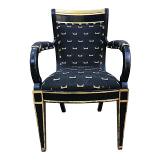 1930s Vintage Art Deco Arm Chair For Sale