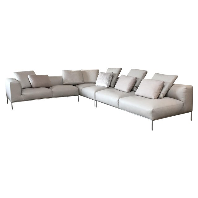 B&B Italia 'Frank' Leather Sectional For Sale