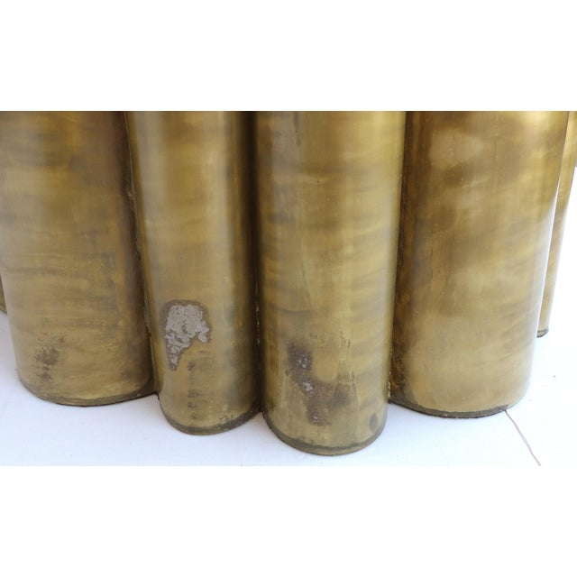 Scalloped Brass Finish Side Tables - a Pair - Image 10 of 11