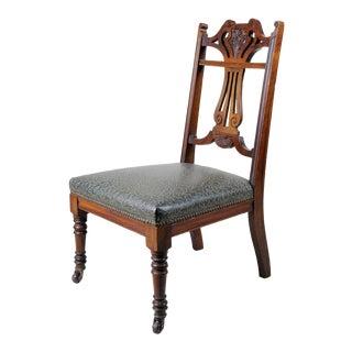 19th Century Art Nouveau Slipper Chair, Accent Piece For Sale