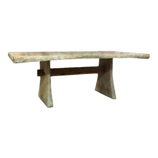 Rock Edge Deck Dining Table For Sale