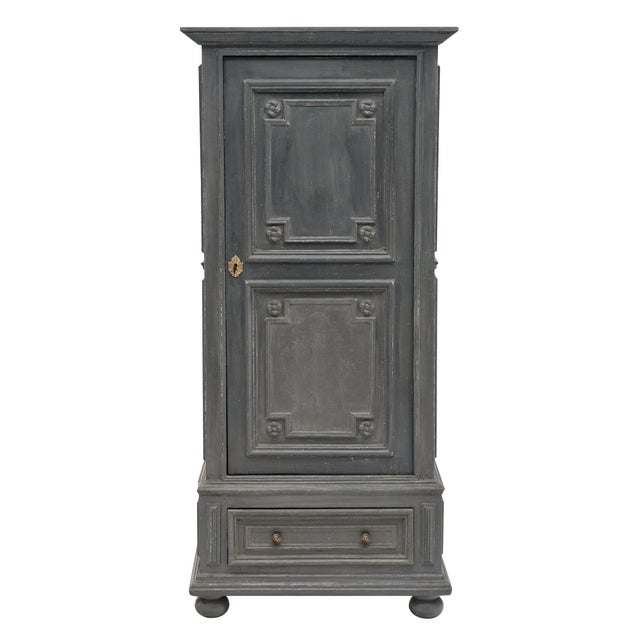 Louis XIV Style Gray Painted Bonnetiere For Sale - Image 11 of 11