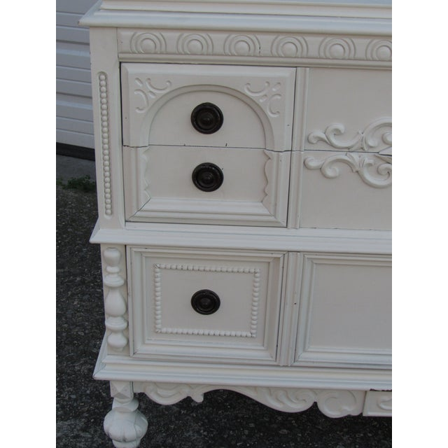 Jacobean/Gothic Lowboy Chest of Drawers - Image 6 of 6