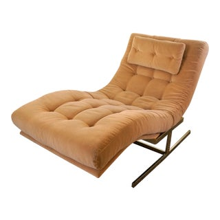 Mid-Century Modern Milo Baughman Wave Lounge Chair For Sale
