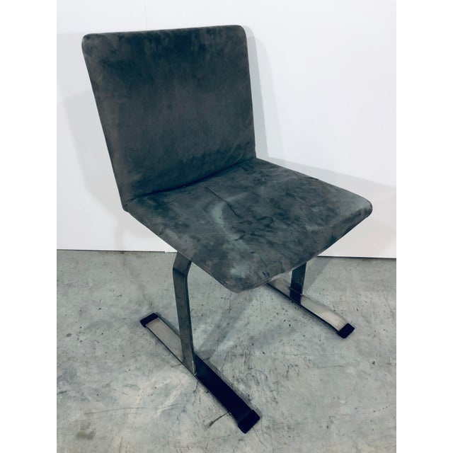 Metal Seven Giovanni Offredi for Saporiti Chrome Dining Chairs For Sale - Image 7 of 12