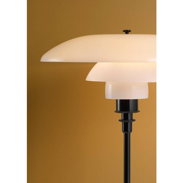 Danish Modern Poul Henningsen Brass and Glass Ph Floor Lamp for Louis Poulsen For Sale - Image 3 of 4