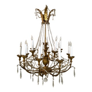 Antique Gilded French Chandelier