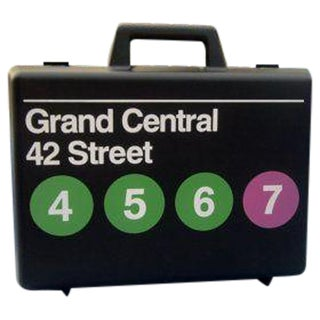 Graphic Designer Massimo Vignelli Storage Trunk Pop Art Travel Case For Sale