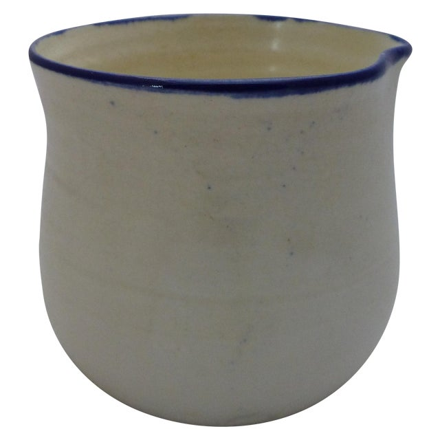 Mid-Century Blue and White Studio Pottery Beaker - Image 1 of 6