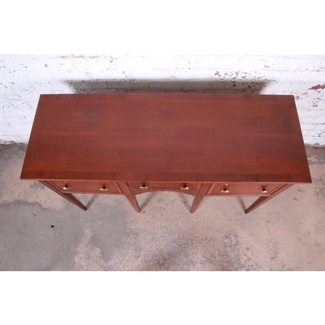 1970s Hekman Regency Style Cherry Wood Sideboard Credenza For Sale - Image 5 of 13