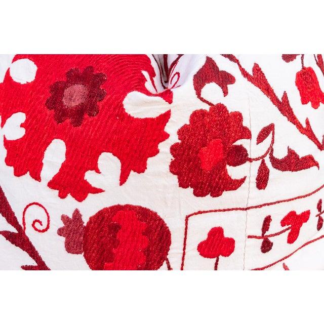 Rakti Royal Red Suzani Pillow For Sale - Image 4 of 10