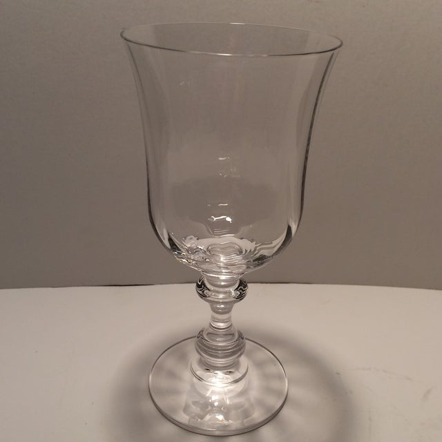"Vintage Crystal Mikasa ""French Country"" Water Goblets - S/4 - Image 5 of 11"