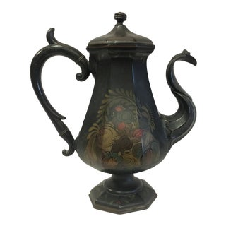 English Folk Art Toleware Pitcher