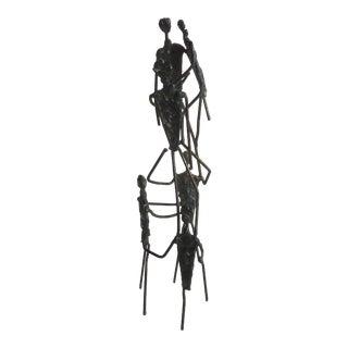 20th Century Brutalist Small Figural Sculpture