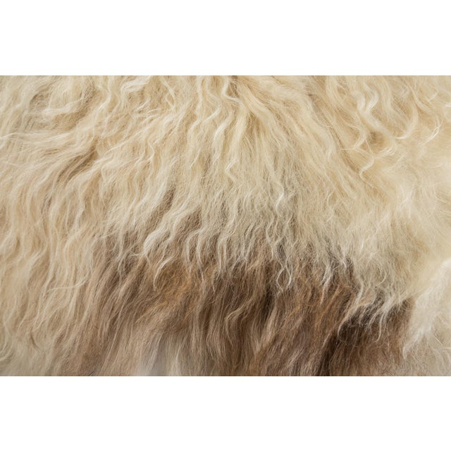 """Contemporary Long Soft Wool Sheepskin Pelt Rug - 2'0""""x3'7"""" For Sale - Image 4 of 7"""