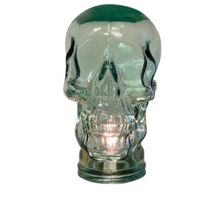 Modern Glass Skull Lamp For Sale