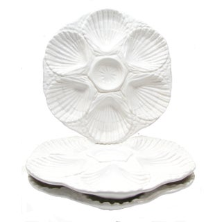 Portuguese Oyster Plates - Set of 3 For Sale