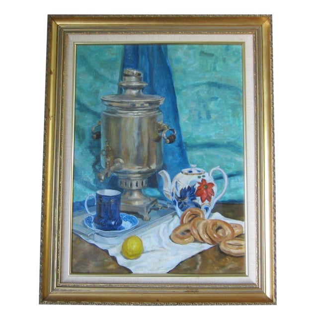 'Tea Time in the Ussr' Original Painting - Image 1 of 8